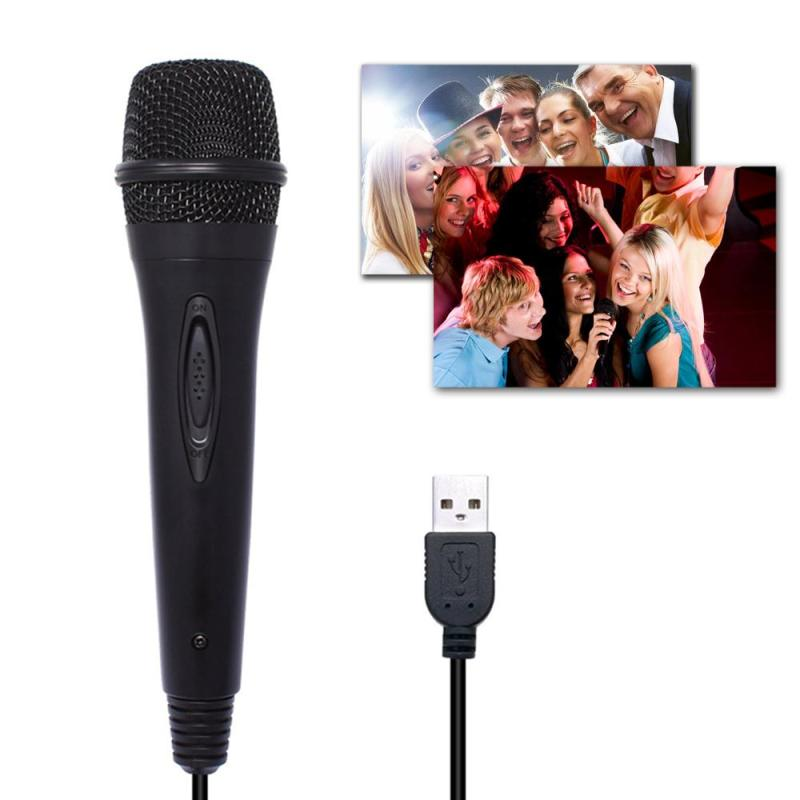 niceEshop USB Microphone, Wired Microphone Compatible with 360/PC Karaoke Singing Game Singapore