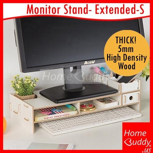 Discounted Monitor Laptop Stand Version Extended S Thick 5Mm High Density Wood Ready Stocks Sg Reach You 2 To 4 Work Days Homebuddy Acev Pacific