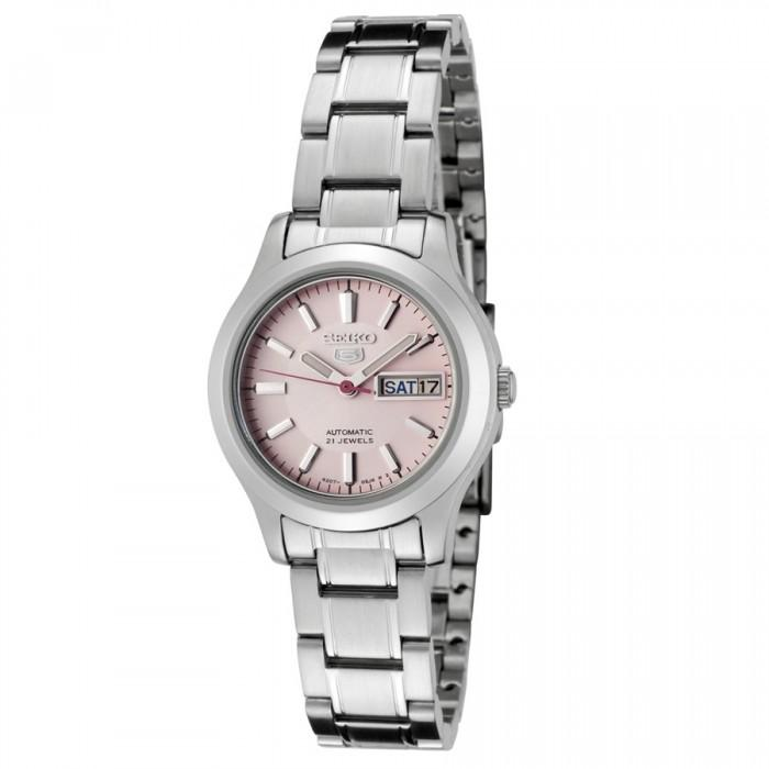 Sale Seiko 5 Automatic 21 Jewels Women S Silver Tone Stainless Steel Strap Watch Symd91K1 Singapore Cheap
