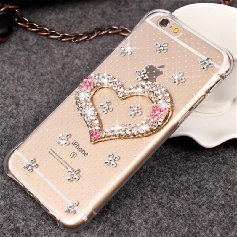 Untuk ZTE Blade V9 Vita Cover Case Mewah Berlian Modis Berkilau Bersinar Berlian Buatan Bentuk Hati Case Telepon Lembut Penutup Karet-Intl