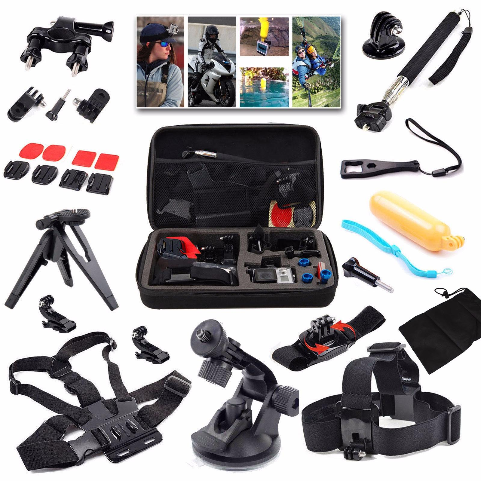Sports Accessories Kit For Gopro 4 3 2 1 Outdoor Action Camera Accessories For Sj4000 Sj5000 Sj5000X Sj6 Legend Sjcam M20 4K Xiaomi Yi 4K On Line