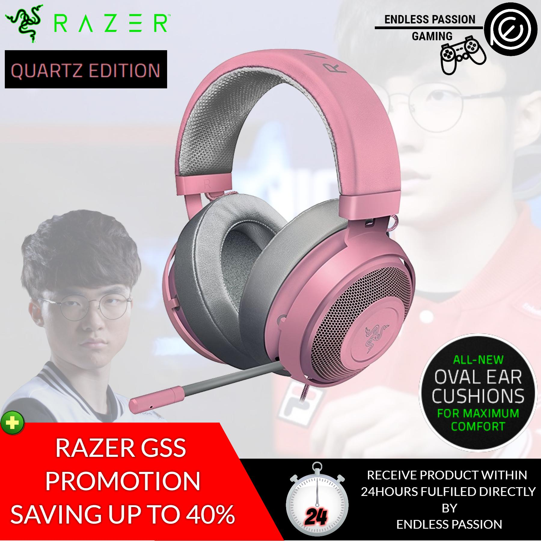 Razer Kraken Pro V2 Quartz Edition Gaming Headset - Oval