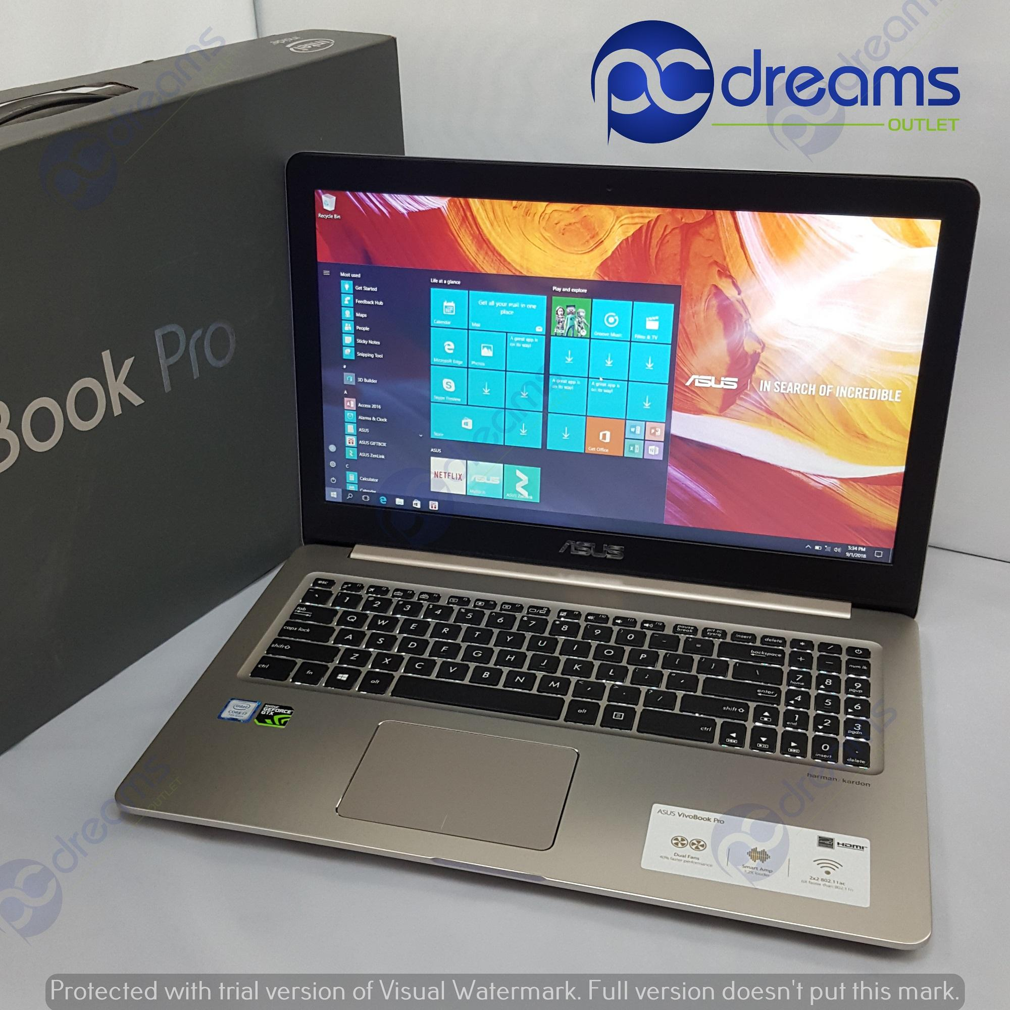 GSS PROMOTION! ASUS VIVOBOOK PRO N580VD-DM060T i7-7700HQ/8GB/1TB HDD+128GB SSD [Premium Refreshed]