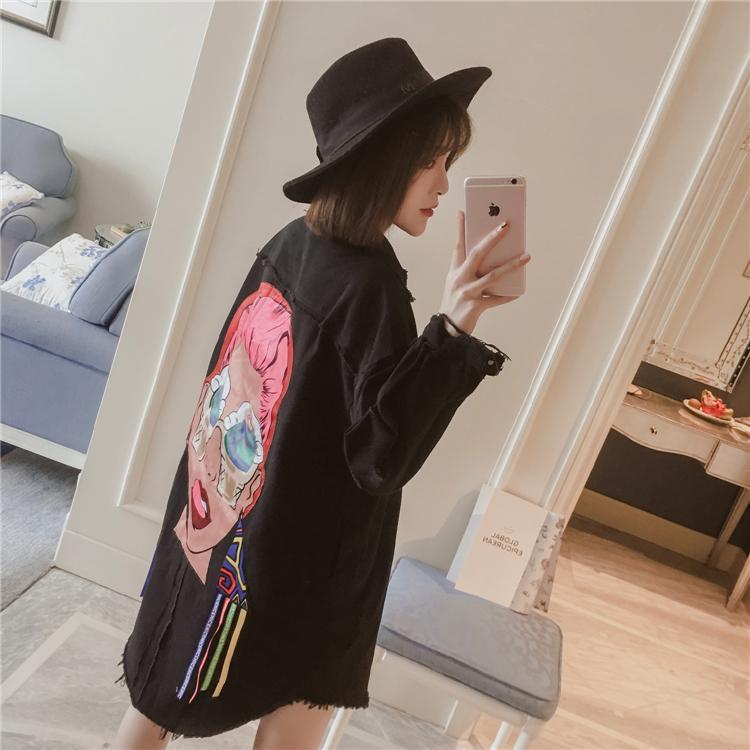 Untuk Meningkatkan Kode Pakaian Musim Semi Wanita Gemuk Mm2018 Model Baru Agak Gemuk Adik 200 Pound