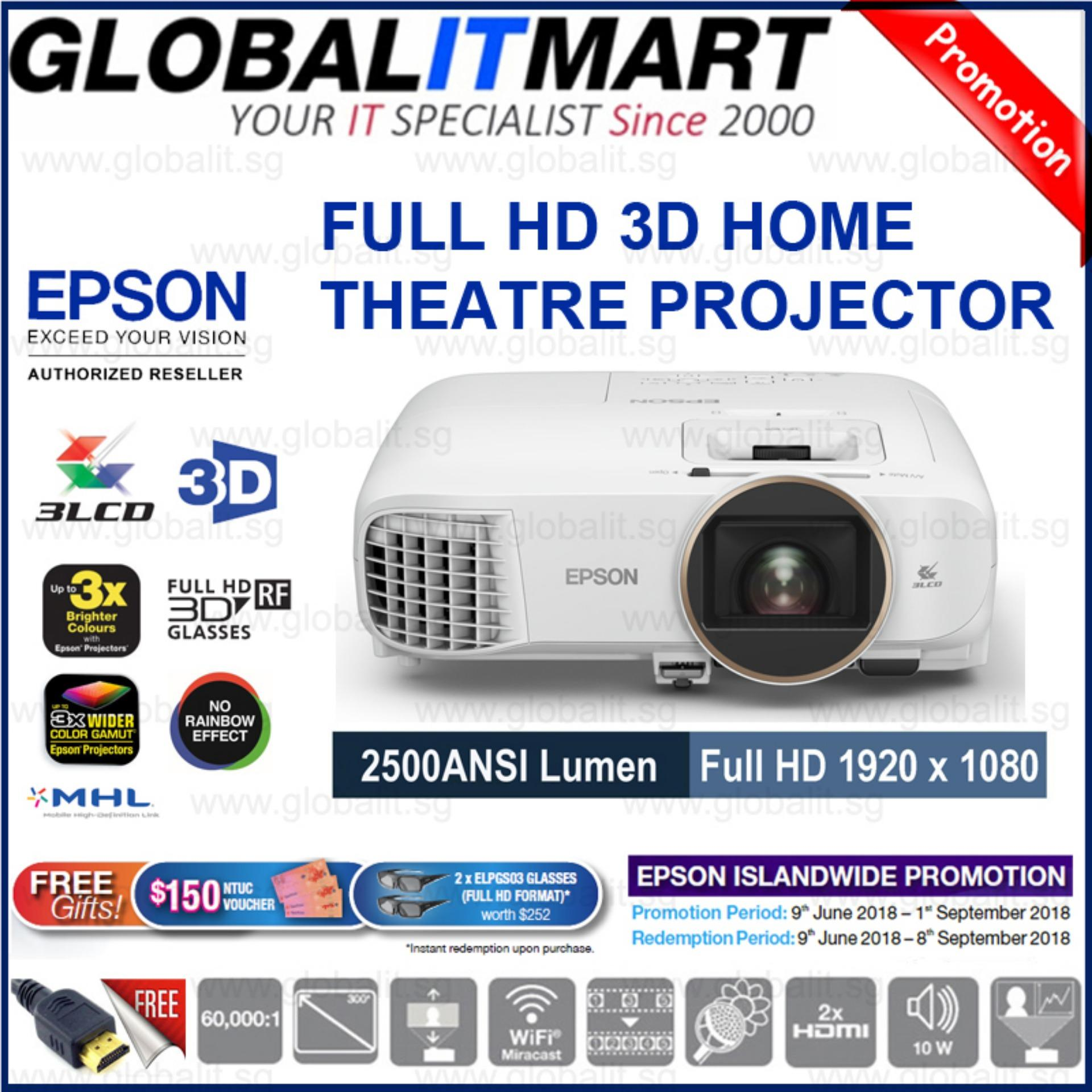 Best Rated Epson Home Theatre Tw5650 Wireless 2D 3D Full Hd 1080P 3Lcd Projector