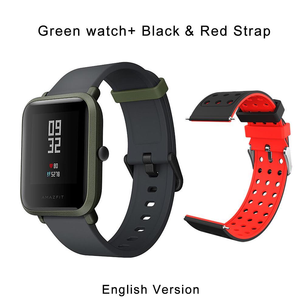 Bahasa Inggris Baru Asli Huami Amazfit Bip Lite Olahraga Smartwatch Smartwatch GPS Gloness Monitor Denyut Jantung