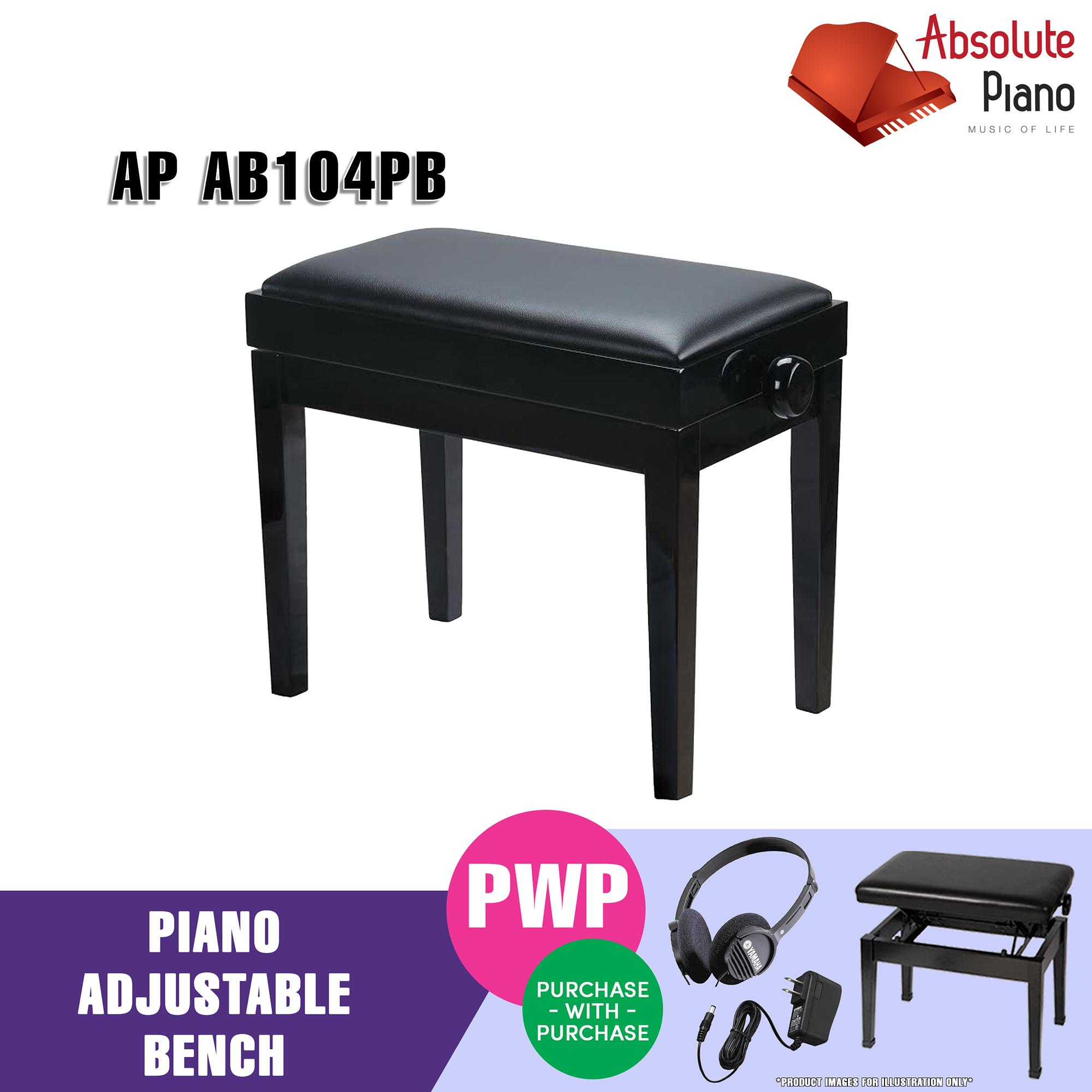 Wholesale Ap Adjustable Piano Bench Polished Black
