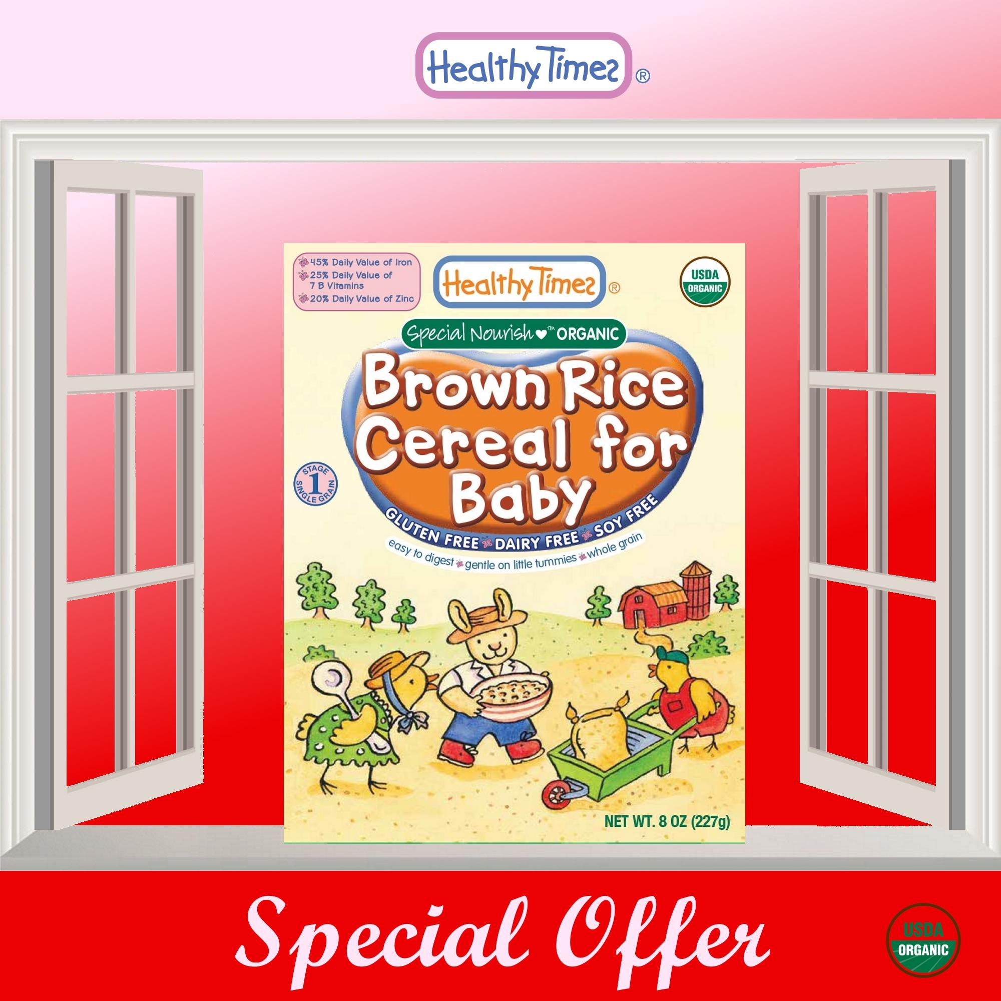 Recent Expiry 08 Jul 2019 Without Outer Box Due To Dented Packaging 2 X Organic Brown Rice Cereal For Baby 4 Months