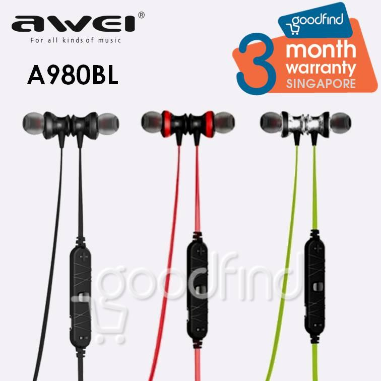 Buy Awei A980Bl Bluetooth Earphone Magnetic Ear Buds Awei Online