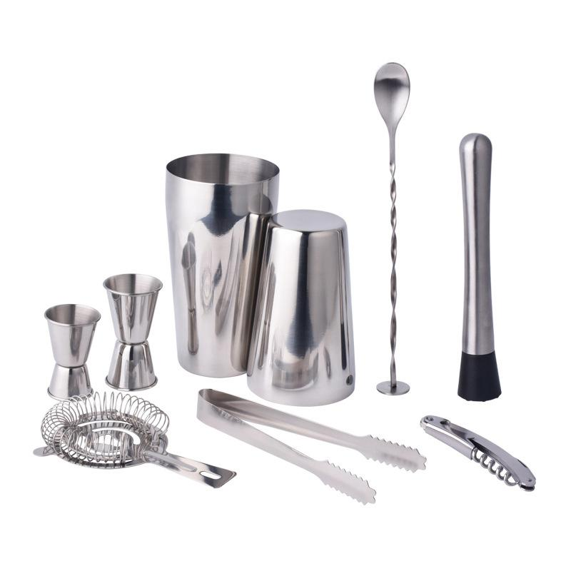 Deals For Bar Set Professional Bartender Kit With Boston Shaker And Supplier For Drink Mixing Bar Accessories Tools 9 Pieces Intl