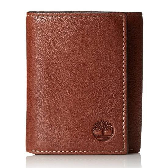 Sale Timberland Men S Leather Wallet Cavalieri Trifold Brown
