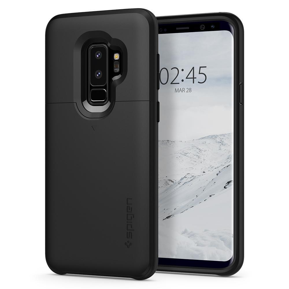 Low Price Spigen Slim Armor Cs Case Black For Samsung Galaxy S9 Plus Authentic