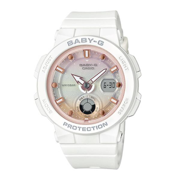 [BGA250]Casio Baby-G Beach Traveler Series White Resin Band Watch BGA250-7A2 BGA-250-7A2 (jam tangan wanita / casio watch / casio watch women) Malaysia