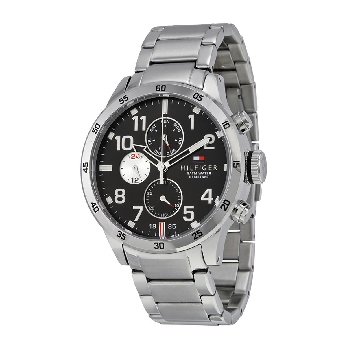 Cheaper Tommy Hilfiger Watch Cool Sport Silver Stainless Steel Case Stainless Steel Bracelet Mens 1791141