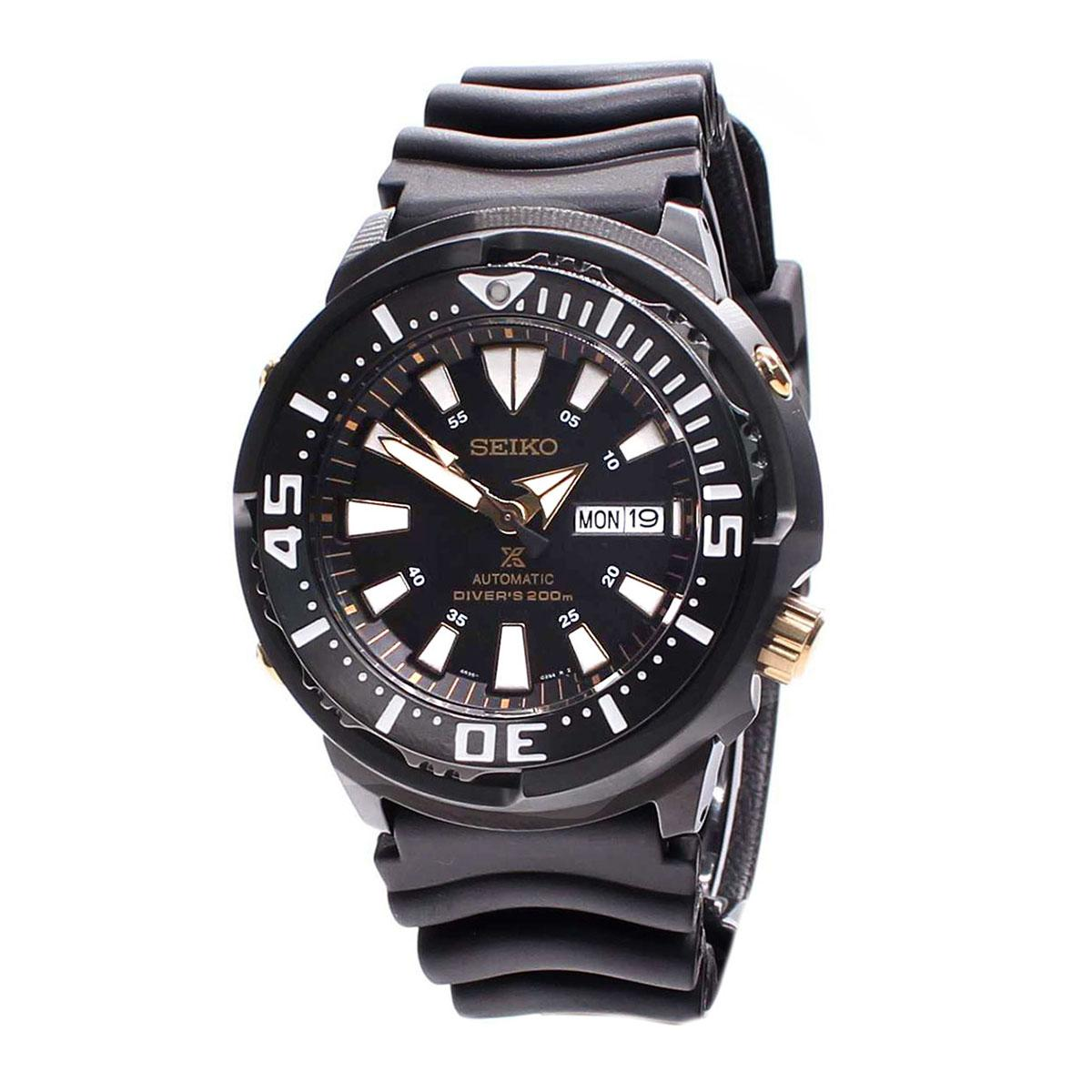 Cheap Seiko Watch Prospex Baby Tuna Black Stainless Steel Case Rubber Strap Mens Srp641K1