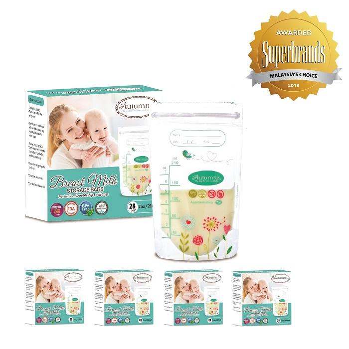 Discount Autumnz Double Ziplock Breast Milk Storage Bag 7Oz 28 Bags Box 5 Boxes Autumnz