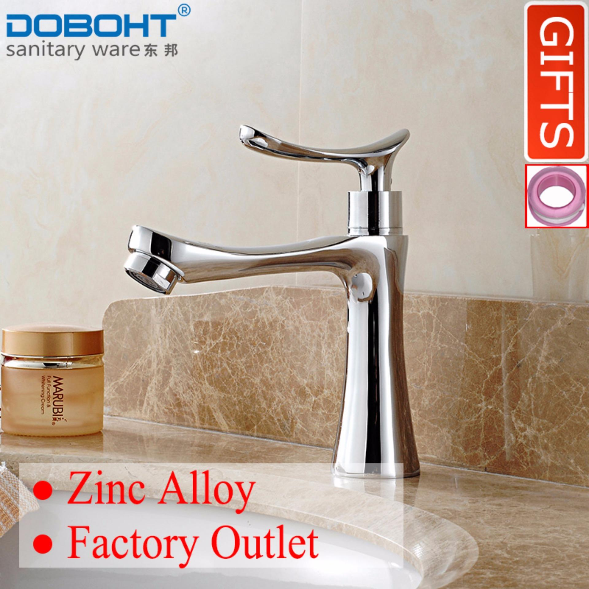 Doboht Zinc Alloy Bathroom Sink Basin Single Cold Tap Faucet Chrome Export On China