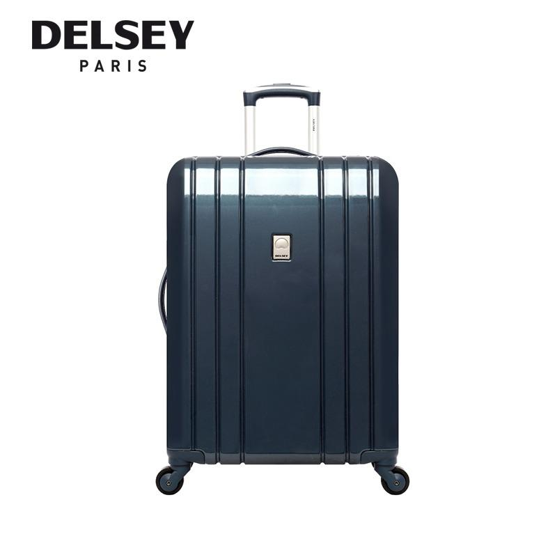 Compare Aircraft 76Cm 4 Wheel Trolley Hard Case Purple Blue Silver New Arrival