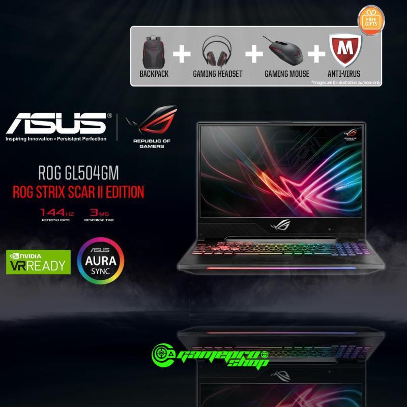 8th Gen ASUS ROG Strix SCAR II GL504GM - ES172T (8th-Gen/256GB SSD/GTX 1060 6GB GDDR5) 15.6 With 144Hz Gaming Laptop