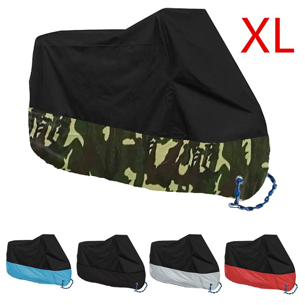 Price Compare Motorcycle Motorbike Waterproof Cover Protector Case Cover Rain Protection Breathable Black Camouflage Color Xl Intl