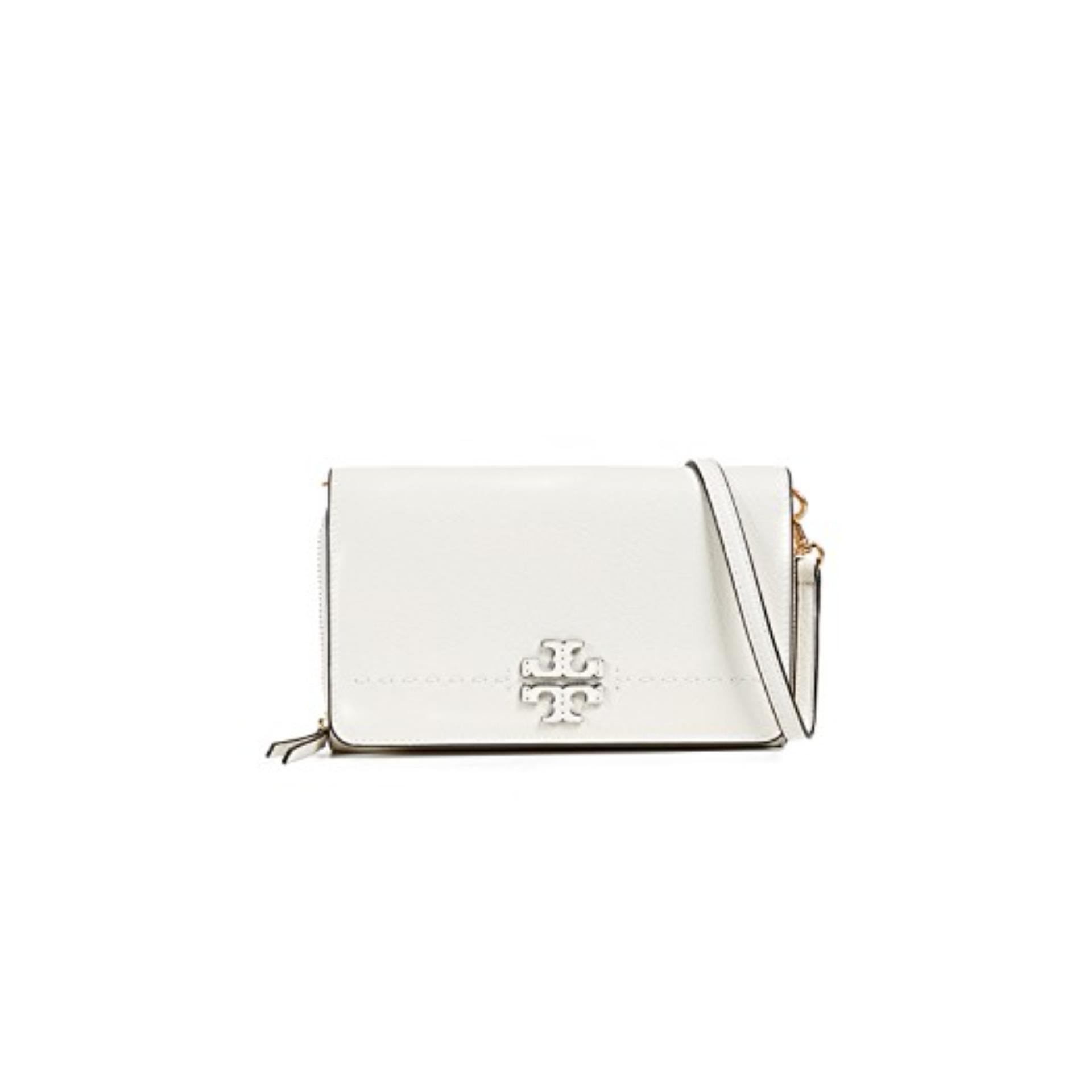 Price Tory Burch Mcgraw Flat Wallet Cross Body Ivory Tory Burch Original