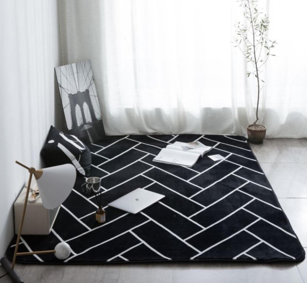 Modern Contemporary Simplistic Nordic Scandinavian Living Dining Room Coffee Table Carpet