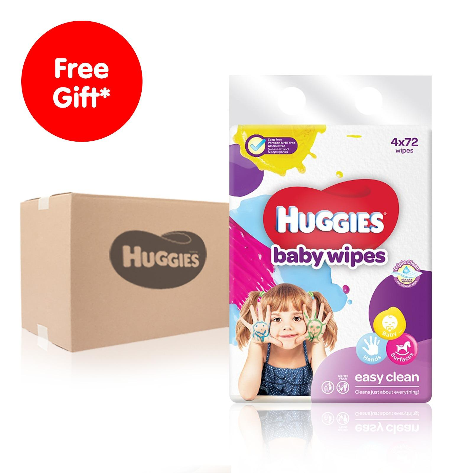 Purchase Huggies Easy Clean Baby Wipes 4X72Pcs X4 Online