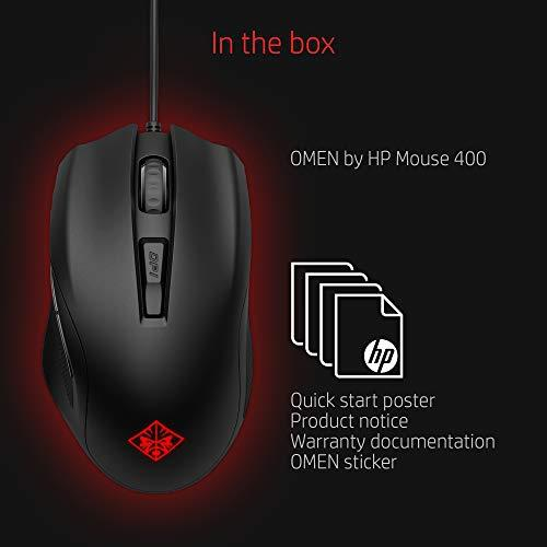 OMEN by HP Wired USB Gaming Mouse 400 -Optimized Mechanical