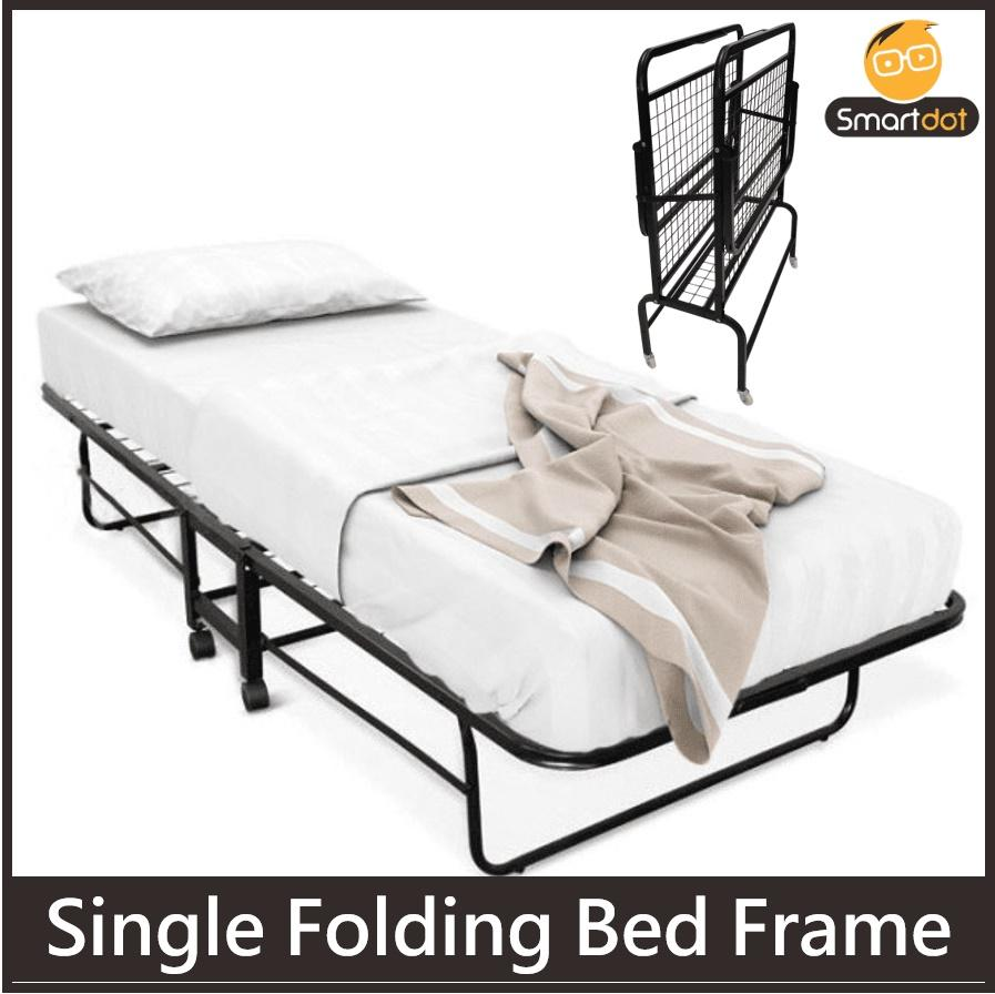 Modern Single Size Folding Bed Frame (Black)