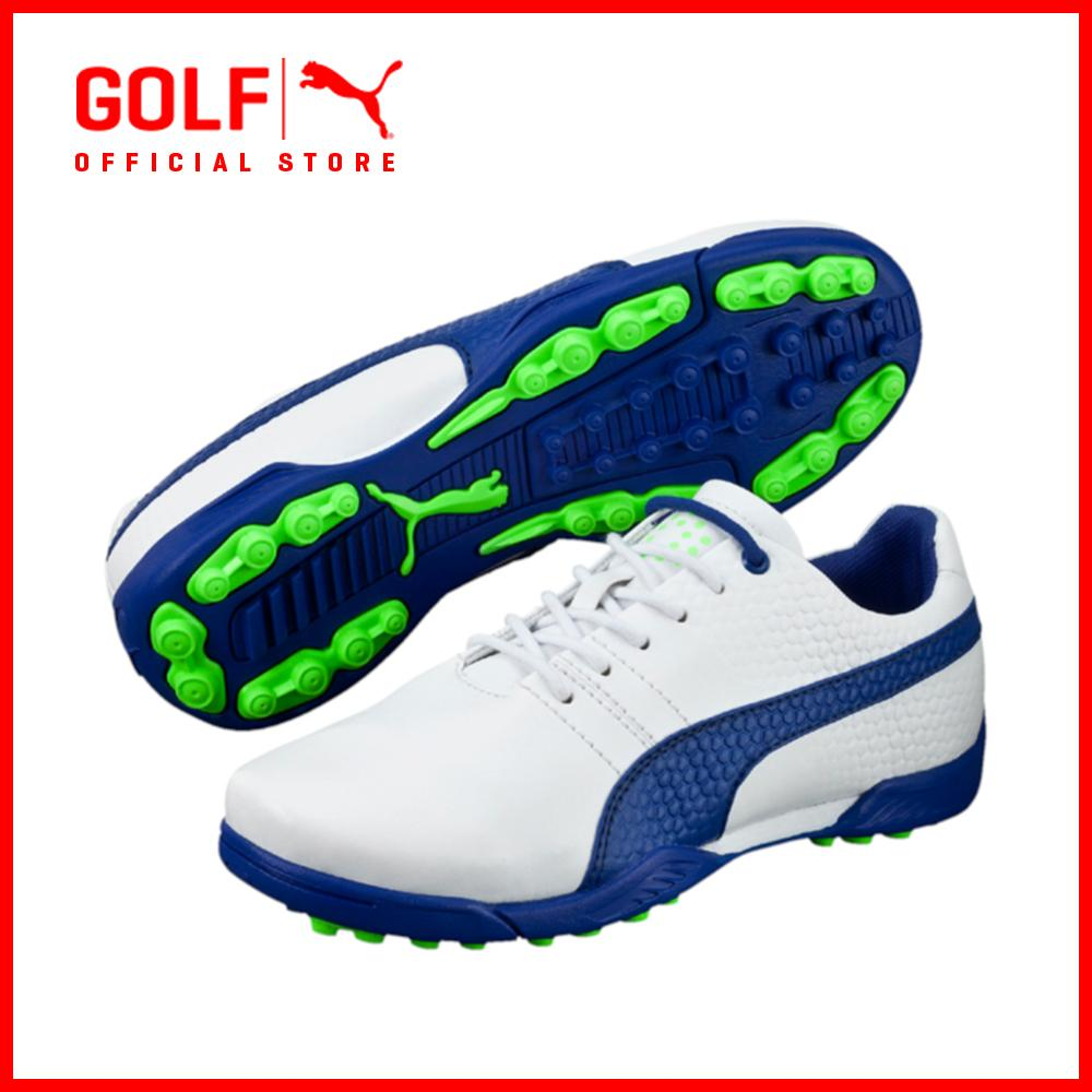 5f57581fc3fa Puma Golf Kids Titantour V2 Jr. Footwear - White-Surf The Web-Green