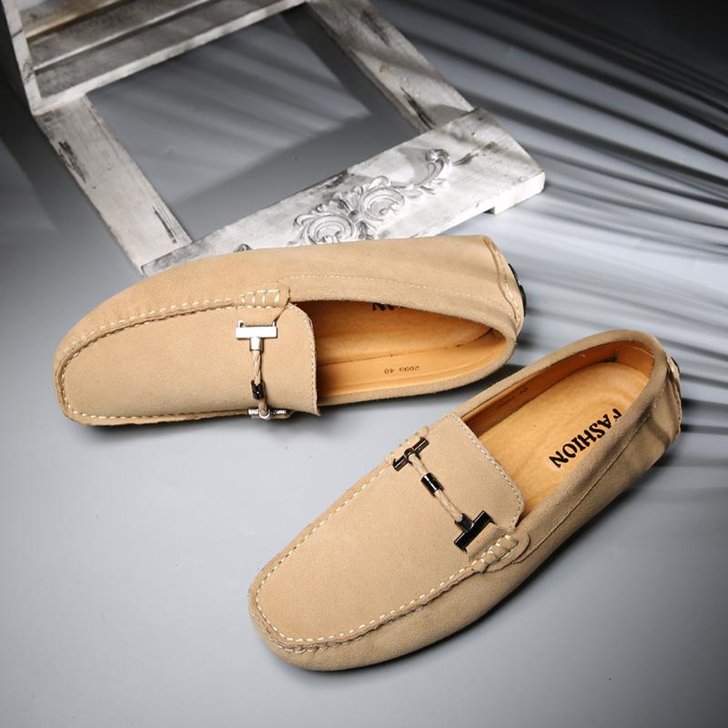 Lazy British cow suede men foot covering shoes mens shoes Singapore