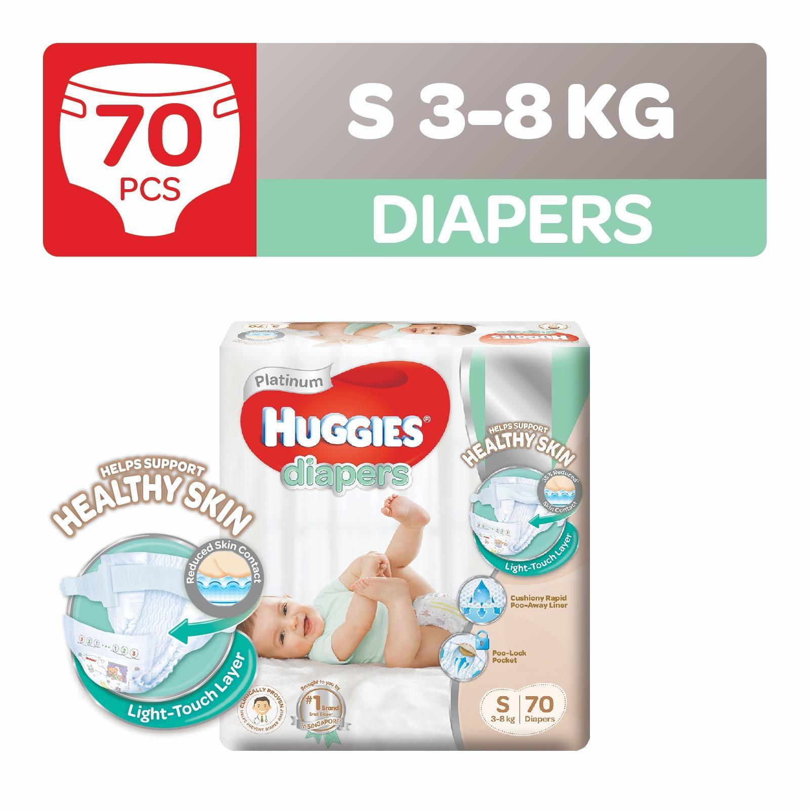 Buy Huggies Platinum Diapers S 70Pcs Cheap Singapore