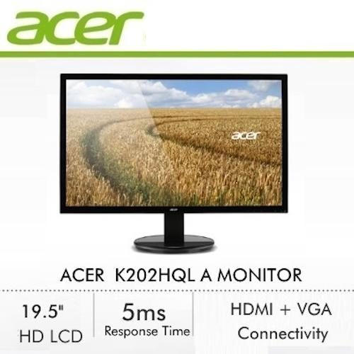 Acer K202HQL A 19.5 Inch LCD display with LED Technology Monitor