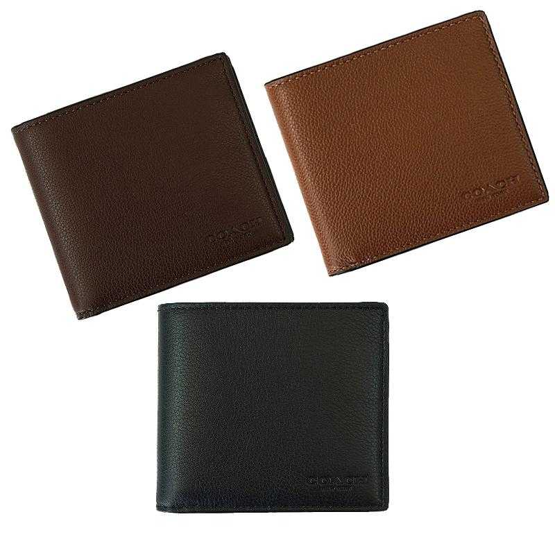 Sale Coach Men S Double Billfold Wallet In Sport Calf Leather F75084 Coach Wholesaler
