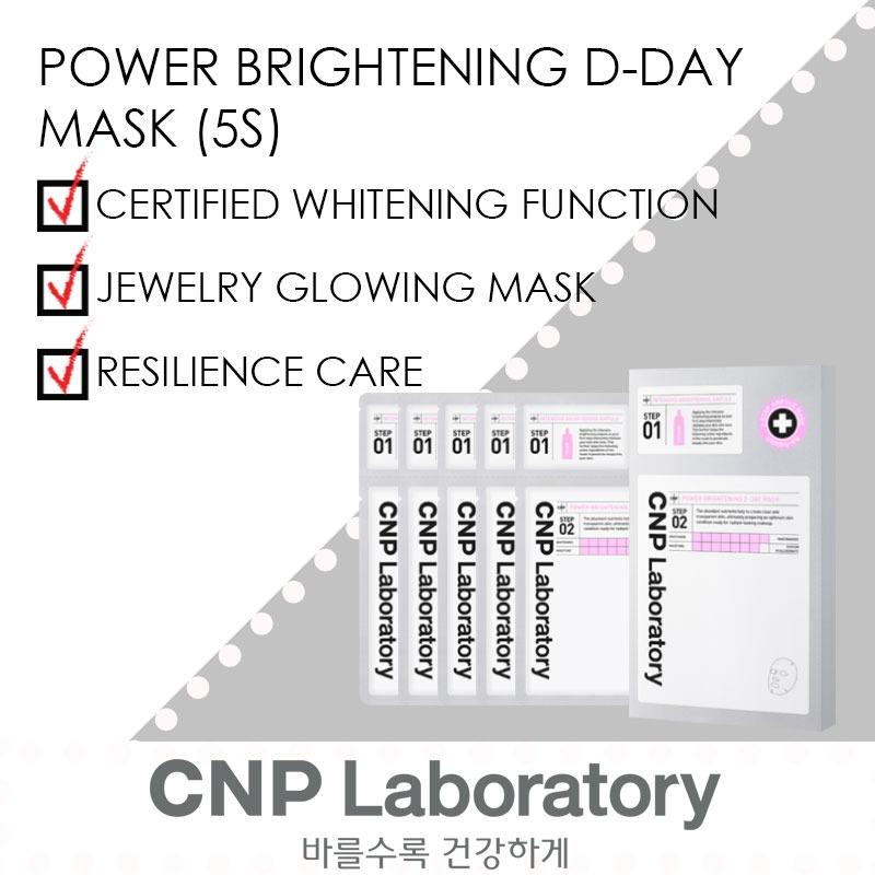 Price Cnp Laboratory 2 Step Power Brightening D Day Mask 5 Sheets Cnp Laboratory New