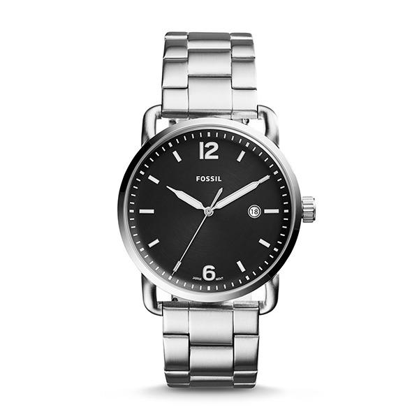 Discount Fossil Men S The Commuter Three Hand Date Stainless Steel Band Watch Fs5391 Fossil On Singapore