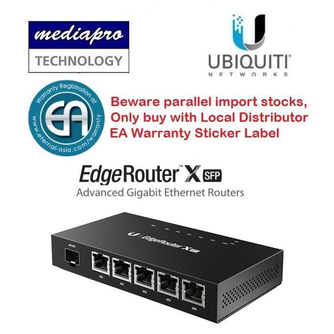 Ubiquiti Er X Sfp Edgerouter™ X Sfp Advanced Gigabit Router With Poe And Sfp Local Distributor Warranty Coupon