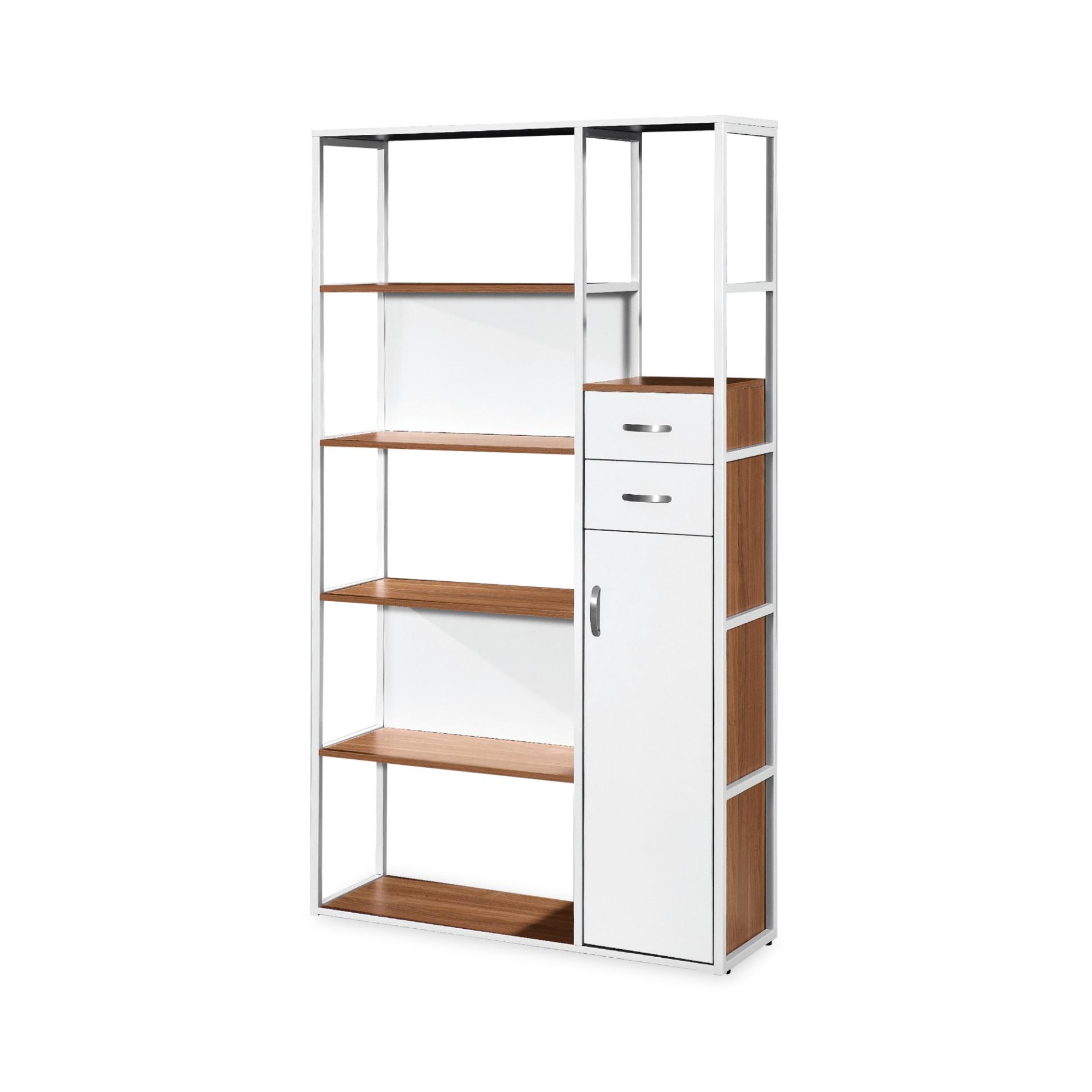 Amore Book Cabinet With Storage Shelves (FREE DELIVERY)(FREE ASSEMBLY)