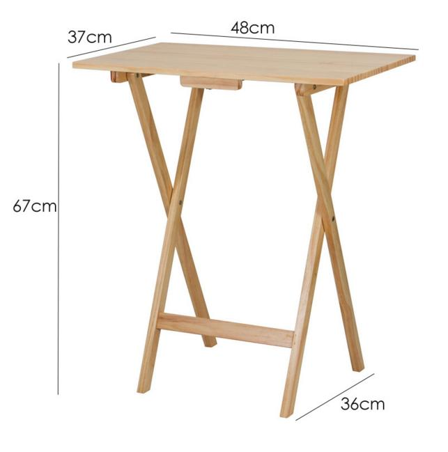 Wooden Foldable Table Brown