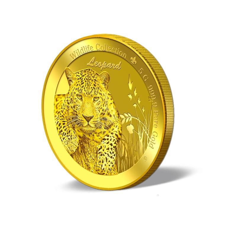 Deals For Puregold 5G Wildlife Leopard Gold Coin 999 9