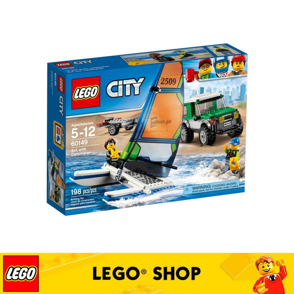 Sale Lego® Lego City 4X4 With Catamaran 60149 Lego Cheap