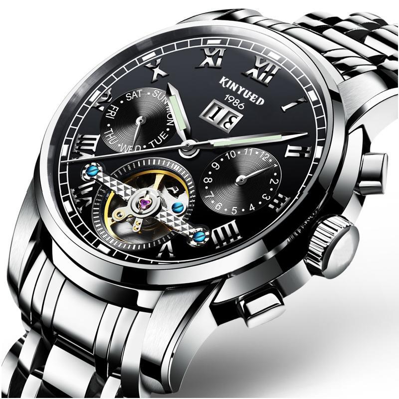 Tourbillon Sepenuhnya Otomatis Jam tangan mekanik berongga Jam tangan pria  Merek Produk Asli Swiss 2018 model 6663699d0d