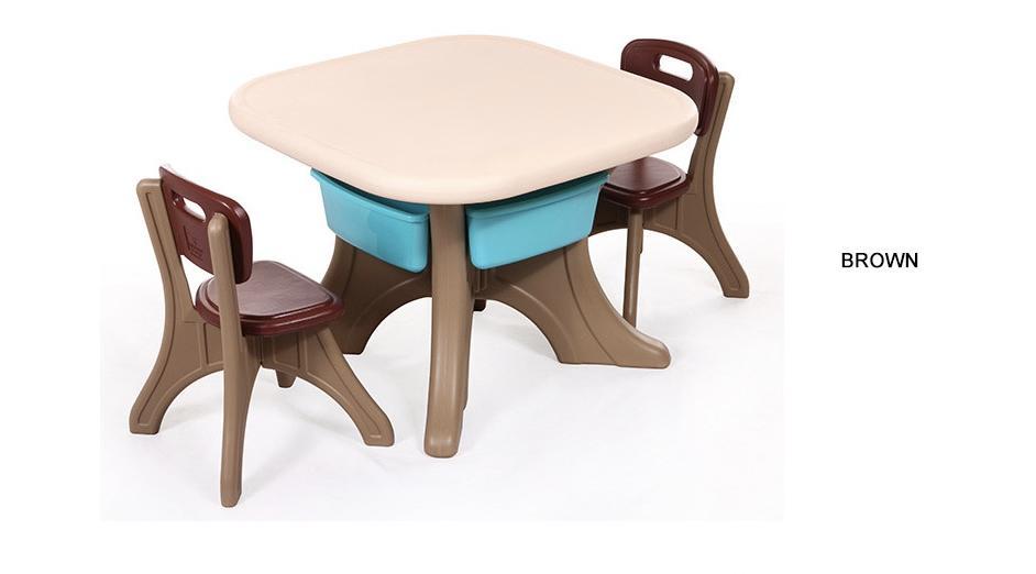 Espaido Children Table Set With Storage (1+2)