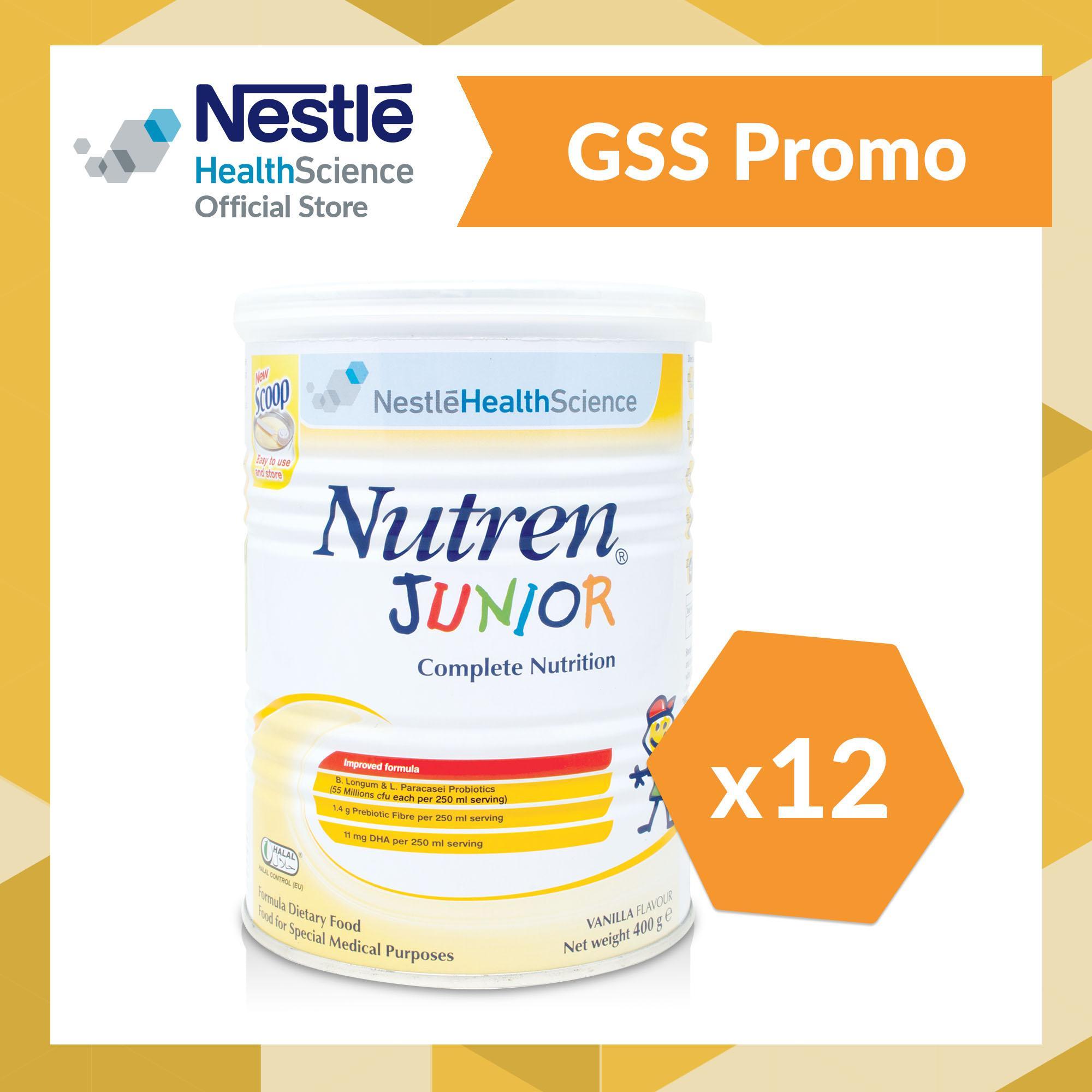 Price Nutren® Junior Powder Vanilla 400G Case Nutren Singapore