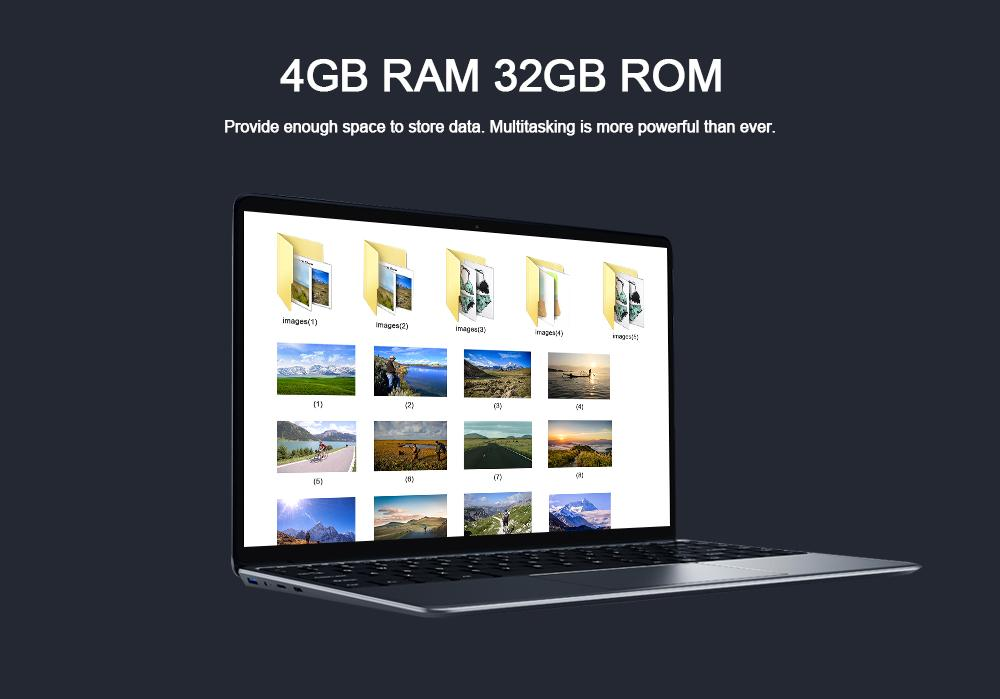 CHUWI Lapbook SE Laptop 13 3 inch with Windows 10 OS Quad Core 4GB + 32GB