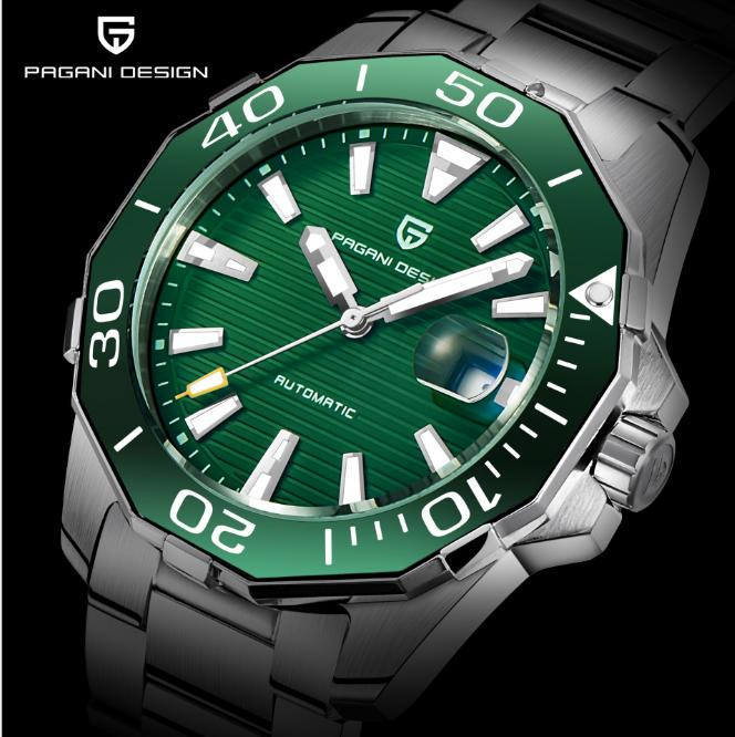 c3438925e3cd6 PAGANI DESIGN Mens Classic Diving Series Mechanical Watches Waterproof  Steel Stainless Brand Luxury Watch Men Relogio