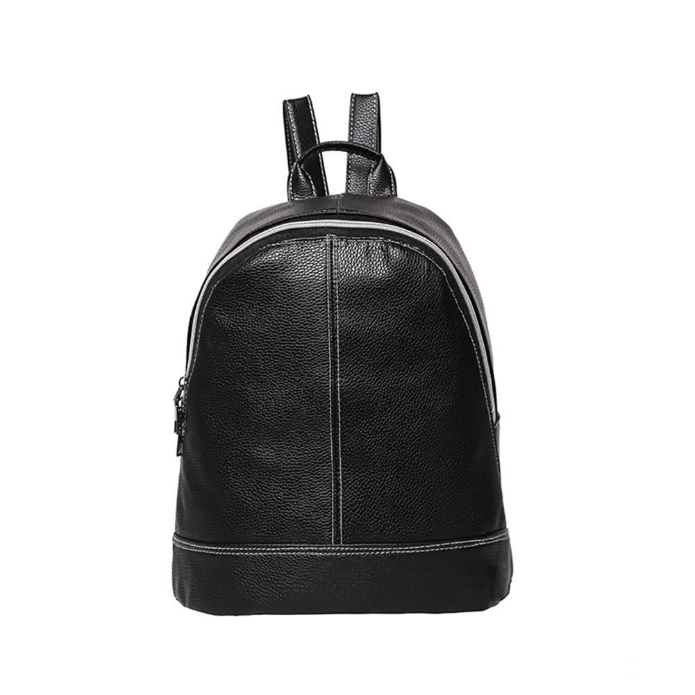 Fashion Women Litchi Pu Leather Simple Backpacks Girls Zipper Travel Casual Shoulder Bookbag Schoolbags By Sportschannel.