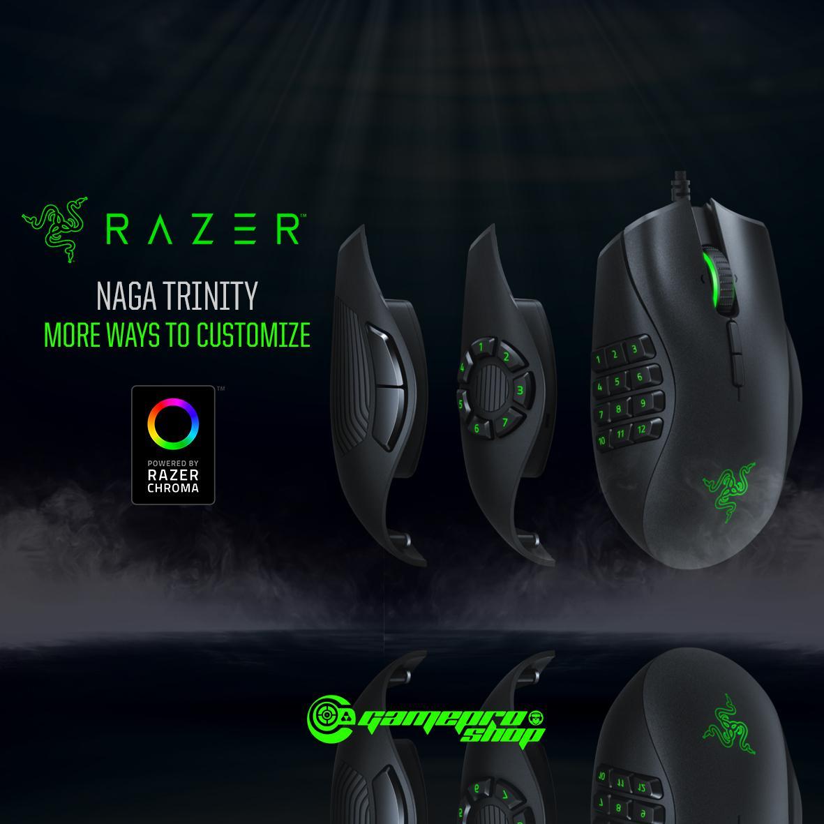 Razer Naga Trinity MOBA/MMO Gaming Mouse  *GSS PROMO*