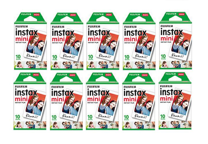 Cheaper 200 Sheets Fujifilm Instax Mini Twin Film 10 Twin Packs
