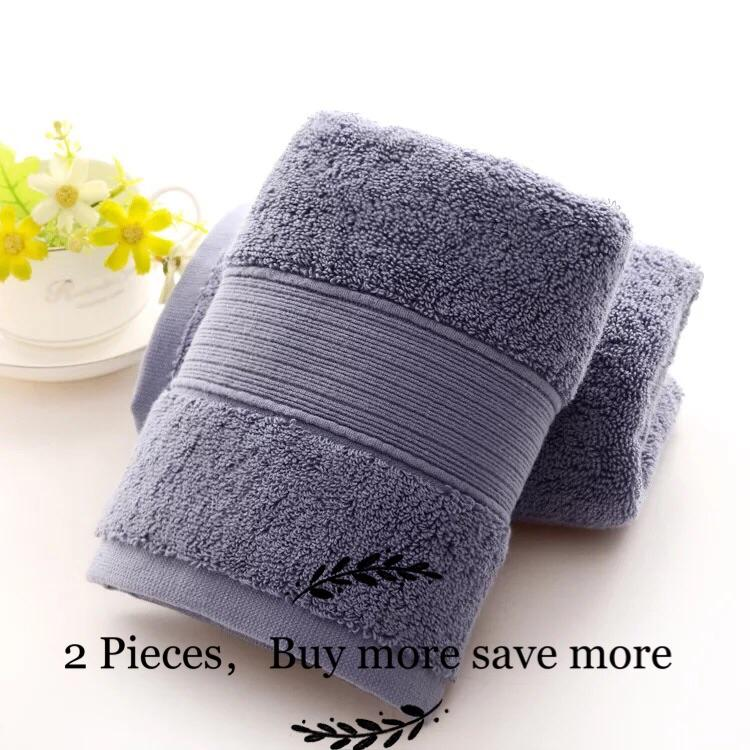 Review 2 Pieces 170G 100 Cotton Hand Towel Five Star Hotel Design Standards 75 X 35Cm Blue On Singapore